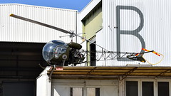 "Bell 47G-2 preserved as Germany Army ""PA-119"" Likely a fake serial (Erwin's photo's) Tags: aircraft germany bell 47g2 preserved army pa119 likely fake serial bad honnef blaue sau"