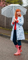 The Perfect Wellies for Wide Calves - Spring Showers Outfit, Over 40 Fashion | Not Dressed As Lamb, over 40 fashion blog (Not Dressed As Lamb) Tags: fashion style outfit ootd rain raining rainy spring florals