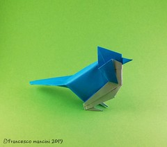 Blue jay (mancinerie) Tags: origami paperfolding papiroflexia papierfalten francescomancini mancinerie bluejay origamibluejay