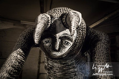 Phlegm - Mausoleum Of The Giants (Jeff Higgott (Sequella.co.uk)) Tags: jeffhiggott jeffhiggottphotography sequella sheffield phlegm streetart street art artist graffiti wall installation indoor model construction museum papier paper mâché mache