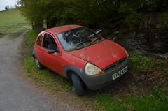 Ka (Sam Tait) Tags: ford ka red 2002 13 1300 8v petrol junk scrap abandoned old dumped