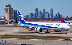 MSP JA734A (Moments In Flight) Tags: minneapolisstpaulinternationalairport msp kmsp mspairport aviation avgeek airplane airliner diversion orddiversion allnipponairways allnippon ja734a boeing 777 777300er b77w 777381er ana nrtmsp rjaakmsp ge90 ge90115