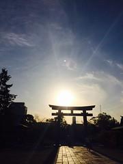 (uucoco) Tags: sun sunset sunshine sky sharine japan blue shadow shine black orange