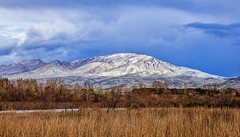 Spring  Snow On Squaw Butte (http://fineartamerica.com/profiles/robert-bales.ht) Tags: facebook gemcounty haybales idaho landscape people photo photouploads places scenic states snow spring mountain emmett sweet sunrise squawbutte farm rollinghills idahophotography treasurevalley clouds emmettvalley emmettphotography trees sceniclandscapephotography thebutte canonshooter beautiful sensational awesome magnificent peaceful surreal sublime magical spiritual inspiring inspirational wow stupendous robertbales town butte goldenhour sunset valley greetingcard