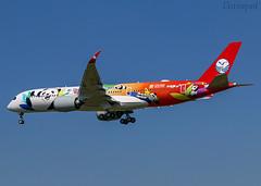 F-WZGT Airbus A350 Sichuan Airlines (@Eurospot) Tags: fwzgt airbus a350 a350900 sichuan b306n toulouse blagnac