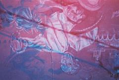 Fellini's Casanova (goodfella2459) Tags: nikonf4 adoxcolorimplosion100 35mm c41 film analog experimental multipleexposure doubleexposure rimini borgosangiuliano federicofellini felliniscasanova casanova donaldsutherland mural streetart cinemahistory abstract lensfiltersgroup