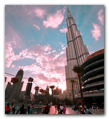 Aim for the top! (FotographyKS!) Tags: dubai arab architecture building urban burj bhurjkhalifa cityscape colorful downtown dramatic emirates emaar futurestic travel khalifa lifestyle luxury modern panorama height depthoffield skyline skyscraper clouds tourism travelforlife nikon tokina streetphotography