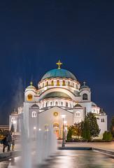 Temple H2O (Predrag Drobac) Tags: temple church night sky belgrade serbia longexposure architecture fountain