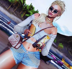 Every day is a second chance. (Katy Hastings) Tags: addams level versov ddlaccessories exile collabor88 thelevel beach junkfood seven