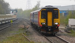 Heading back to home territory (The Walsall Spotter) Tags: eastmidlandstrains class156 dmu sprinter 156498 waterorton railway station longmarston derby etchespark sidings ukmultipleunits