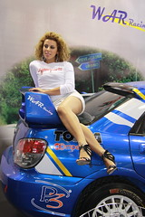 motorshow promoter (themax2) Tags: bologna hostess 2009 motorshow girl legs tights shorts cfm shoes high heels car