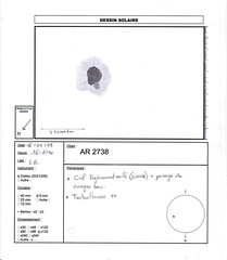 AR2738 (astrodessin.yves) Tags: astrodessin astronomie soleil tache observation