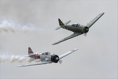 North American SNJ-6 Texan and CCF T-6J Harvard IV (Mitsubishi A6M Zero) - 01 (NickJ 1972) Tags: mcas yuma airshow 2019 aviation toratoratora tora northamerican t6 snj5 texan harvard n9820c 47ps 18 iv n15797 ai114