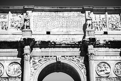 Arch of Constantine (RoamingTogether) Tags: 70200vrii archofconstantine blackandwhite europe italy nikon nikon7020028 nikond700 rome
