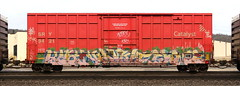 Kost/Kamit/Same (quiet-silence) Tags: graffiti graff freight fr8 train railroad railcar art kost kamit same tbv boxcar sry sry9421