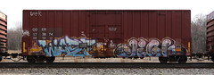 Wasp/Jigl (quiet-silence) Tags: graffiti graff freight fr8 train railroad railcar art wasp jigl mfk ld boxcar coer coer173874