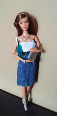 Business Gal is Comin' to Town (Tee-Ah-Nah) Tags: doll barbie laptop interview meeting jean skirt