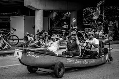 Canoe Art Car (burnt dirt) Tags: houston texas art car parade street streetphotography candid portrait woman man girl young latina asian blonde brunette redhead tights leggings yogapants city town couple lovers friends tattoo downtown pretty beautiful selfie fashion style people person costume cosplay bokeh outdoor shadow sunny rainy documentary xt3 fujifilm cute boots heels skates ponytail long short hair model park spoon boat fishing fish motor flag