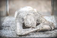 Stomach Sleeper (RoamingTogether) Tags: 70200vrii blackandwhite europe hdr human italy nikon nikon7020028 nikond700 pompeii