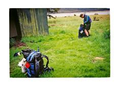 At the old Anti-Crow Hut c1999 (jasoux) Tags: arthurspass arthurspassnationalpark tramping trek trekking wilderness backpack backpacking hiking outdoor river nz newzealand waimakariri waimakariririver anticrow hut