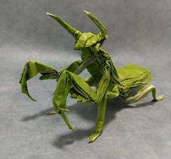 Mantis (Kajmana) Tags: insect origami mantis papercraft
