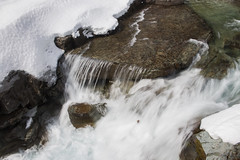 Late Winter Runoff (s_jenkV2) Tags: glacier park glacierpark montana mt national forest mountain peak river snow winter water color rock cold sunny weather lake mcdonald macdonald creek rushing falls 2019 canon 70d going sun road