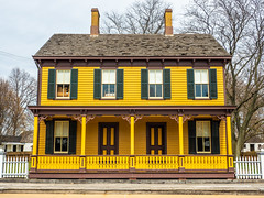 Canary Yellow House (Greg Jarman) Tags: greenfieldvillage michigan dearborn tourist attraction omd em5 mk ii micro four thirds m43