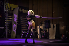 AnimeS Expo 2019 (BG): Day 2 Cosplay Contest: Nier Automata's 2B (SpirosK photography) Tags: cosplay contest cosplaycontest animesexpo2019 animesexpo portrait stage onstage performance bulgaria sofia solocosplay nier nierautomata 2b sexy game videogame videogamecharacter