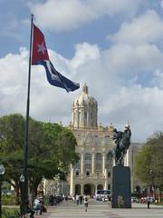 Havana (Jackal1) Tags: cuba havana building architecture cubanflag statue city josémartionhorseback josé marti horseback