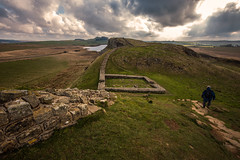 Walking the wall...... (Dafydd Penguin) Tags: hadrians wall coast natonal trail northumberland uk ancient monument roman historic landscape ridge moor clouds leica m10 15mm voigtlander super wide heliar f45