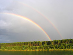 94275042 (Daniel0556) Tags: rainbow over river water tranquil photography tree foliage green cloud view day solitude serene colored color above stationary beauty rural outdoors sky lush image nature multi landscape