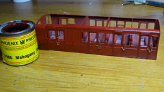 DSC09453 (BluebellModelRail) Tags: lbscr londonbrightonsouthcoastrailway oo 4mm roxeymouldings brass bluebellrailway etchedkit solder 949 brakethird mahogany carriage 4wheeler southernrailway