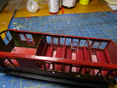 DSC00033 (BluebellModelRail) Tags: lbscr londonbrightonsouthcoastrailway oo 4mm roxeymouldings brass bluebellrailway etchedkit solder 949 brakethird mahogany carriage 4wheeler southernrailway