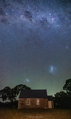 Clouds in a cloudless sky (nightscapades) Tags: astronomy astrophotography autopanopro church crookwell crookwellwindfarm galacticcore goulburn jupiter milkyway night nightscapes pano panorama panos pejar sky southernhighlands southerntablelands stars stitch newsouthwales australia