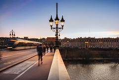 Pont de pierre (Guillaume_BRIAND) Tags: nikon d750 pont bridge pontdepierre pierre garonne bordeaux soir sunrise tram tramway light