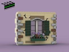Haunted House Cracked Wall with Window (Playwell Bricks) Tags: lego legotechniques legoideas art design creativity architecture building hauntedhouse amusementpark