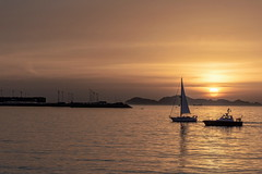 Puesta de sol-_DSC4108 (peruchojr) Tags: atardecer puestadesol dársenadebouzas oberbés mar agua ría ríadevigo vigo galicia españa