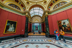 National Gallery (trevorhicks) Tags: london national gallery naked nude building museum artwork art wall paintings people windows indoor tiles seat pillars marble england sigma canon 5d mark iv