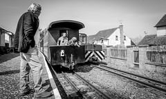South Tynedale Railway . (wayman2011) Tags: colinhart fujifilmxf18mmf2 fujifilmxe2s lightroom5 wayman2011 bwlandscapes mono railways trains transport people pennines dales tynedale cumbria uk