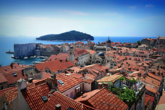 View of Dubrovnik (Jocelyn777) Tags: landscape seascape sea adriaticsea cityviews rooftops cityscapes sky buildings architecture dubrovnik croatia balkans travel