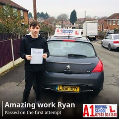Ryan (A1DrivingSchoolDerby) Tags: a1drivingschoolderby automatic manual lessons ryan derby female instructor passinonemonth