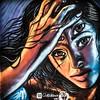 poker (*BegoñaCL) Tags: graffiti mural color woman eye hand hair chikitin barridelcarme valencia squareformat begoñacl art