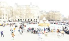 _B5A2773REWS Trafalgar Square, © Jon Perry, 23-3-19 zbq (Jon Perry - Enlightenshade) Tags: trafalgarsquare london highkey longexposure motion people flow jonperry enlightenshade arranginglightcom 23319 20190323
