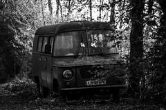 Old vehicle (KamilHer) Tags: vivitar black white vintage japan lens nowa huta forgotten