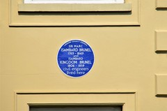 Brunel's Blue Plaque (stavioni) Tags: london county council marc isambard kingdom brunel civil engineer