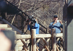 Cameras come in all sizes (radargeek) Tags: film 35mm 2018 april okczoo oklahomacity oklahoma okc zoo shootingtheshooter elephant enrichment easter cellphone camera