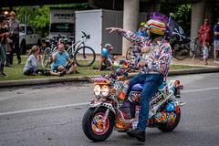 Mr. Psychodelic Moped Rider (burnt dirt) Tags: houston texas art car parade street streetphotography candid portrait woman man girl young latina asian blonde brunette redhead tights leggings yogapants city town couple lovers friends tattoo downtown pretty beautiful selfie fashion style people person costume cosplay bokeh outdoor shadow sunny rainy documentary xt3 fujifilm cute boots heels skates ponytail long short hair model park moped motorcycle mohawk
