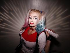 "Harley (""Flare"" stencil) (greyloch) Tags: baltimorecomiccon cosplay costume harleyquinn magmod flaregobo suicidesquad dccomics canonrebelt6s niksoftware"