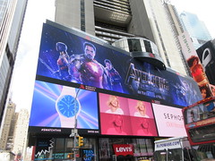 Avengers Endgame Electric Billboard Times Square 6367 (Brechtbug) Tags: avengers endgame steve rogers captain america thor iron man black widow the hulk super soldier marvel shield guardians galaxy comic book hero times square electric billboard movie poster 04172019 theatre holiday ornaments chris evans robert downey jr mark ruffalo hemsworth scarlett johansson 34th street new york city 2019 nyc standee thanos bad guy electronic brie larson carol danvers vers end game
