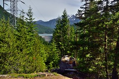 Ross Lake and Dam Nestled Between the Mountains and Evergreen (North Cascades National Park Service Complex)